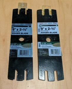 "Troy-Bilt 3-Tip Wheeled Edger Blade 9""x 2-1/2"" (Part 981-0080) 4-Pack Set"