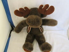 """Mary Meyer 15"""" Moose Plush Stuffed Animal With Ribbon  Excellent Condition"""