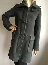 BURBERRY LONDON WOMENS UK S SMALL 8-10 34/36 TOP DESIGNER WOOL DUFFLE COAT PARKA