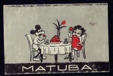 Old Matchbox Label Japan Mickey Betty