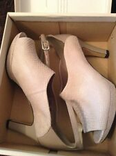 Clarks High Heel (3-4.5 in.) Peep Toes Suede Shoes for Women