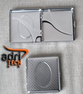 Portasigarette cigarette case in metallo per 20 sigarette classiche