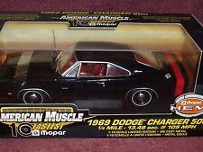 ERTL 1969 DODGE CHARGER 500 BLACK/RED TRIM 1/18