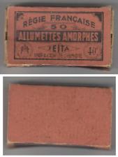 Ancienne Boite d'Allumettes Amorphes de la SEITA .vide.