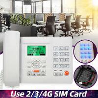Telephone LCD Screen Corded Phone Home Desk Office Landline Caller Display