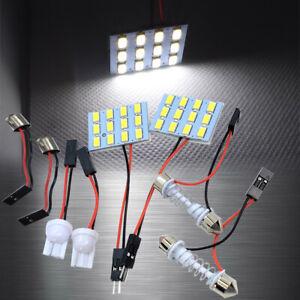 White 12 LED Lamp Dome Roof Light Panel T10 Festoon BA9S Adapter A H L S JP
