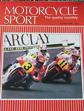 MOTORCYCLE SPORT OCT 1984 HEATED RIDING GEAR ICHABOD THE BIMOTA CONCEPT MOTO MAR