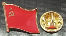 USSR Country Flag Lapel Tie Pin Badge Brooch Union of Soviet Socialist Republic