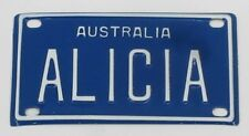 ALICIA NOVELTY NAME MINI TIN AUSTRALIAN LICENSE NUMBER PLATE