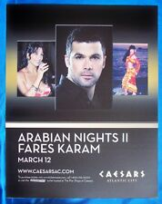 Fares Karam Doris Farhat Soraya March 12, 2011 Caesars Atlantic City Sign Poster