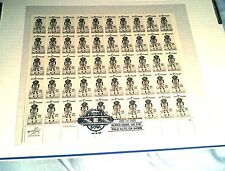 RARE U.S.1985 SUPER BOWL STAMP SHEET, SAN FRANCISCO 49ers VS MIAMI DOLPHINS