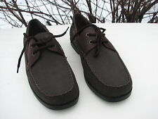 STEVE & BARRY'S  MEN'S BROWN M*STEVE & BARRY'S MENS BROWN CASUAL SHOES SIZE 11 D