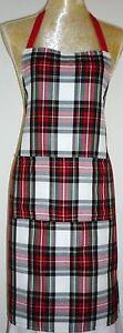 APRON, ATTRACTIVE DRESS STEWART TARTAN  FRONT POCKET.Made in Scotland.