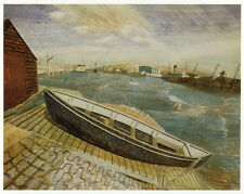 September Noon Newhaven Edward Bawden print in 10 x 12 inch mount SUPERB