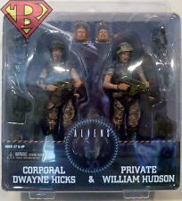 "CORPORAL DWAYNE HICKS & PRIVATE WILLIAM HUDSON Aliens 7"" Figures 2-pk Neca 2013"