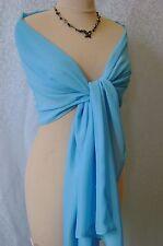 Etole MOUSSELINE châle coloris Turquoise pour mariée mariage cérémonie ou soirée