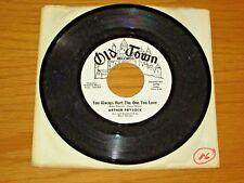 "PROMO JAZZ 45 RPM - ARTHUR PRYSOCK - OLD TOWN 1174 - ""YOU ALWAYS HURT THE..."""