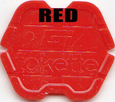 50 Greenwald GI Laundry Token / Tokette RED Tokettes