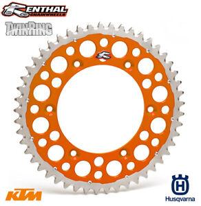 Renthal TwinRing Sprocket KTM SX SXF EXC EXC-F Husqvarna TC FE TE FC 52T Orange