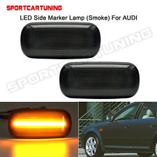 Fit For Audi A4 S4 RS4 TT A3 A6 A8 C5 Smoke LED Fender Side Marker Signal Light