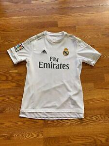 Bale #11 Real Madrid 2015/16 Large Home Football Shirt Jersey Adidas