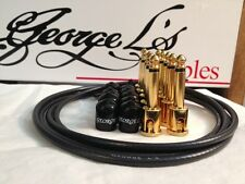 George L's 155 Guitar Pedal Cable Kit .155 Black / Black / Gold - 10/10/5