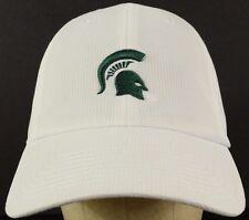 Michigan State White Mesh Baseball Hat Cap Adjustable Strap