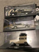 3 X JAMES BOND 007 THUNDERBALL CONNERY CARS EAGLEMOSS FABRI + 3 MAGAZINES
