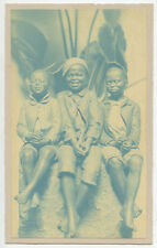 AFRICAN AMERICAN CYANOTYPE 3 BOYS