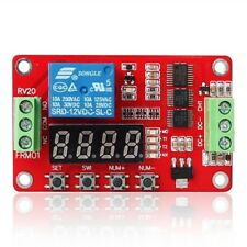 12V Self-lock Relay Cycle Timer Module PLC Delay Time Switch Multi-Function