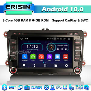DAB+ 4G Android 10 Car Stereo Sat Nav For VW Passat Golf MK5/6 Caddy Touran Polo