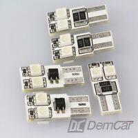 5 X LED 4 SMD w5w T10 Base de Verre Eclairage Intérieur Couleur Rouge