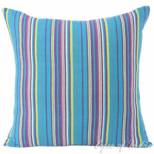 "16/24"" Blue Purple Yellow - Dhurrie Decorative Pillow Cushion Cover Case Throw S"