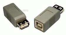 USB 2.0 Standard A Female Socket to Printer Cable B Type Female Socket Coupler