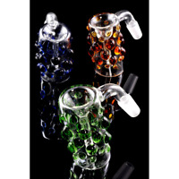 14.5mm Glass on Glass Ash Catcher - GREEN- FOR TOBACCO USE ONLY