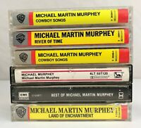 Lot of 6 Michael Martin Murphey Cassette Tapes ~ Cowboy Songs, River of Time