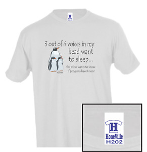 3 out of 4 voices sleep penguins knees HoneVille Unisex T-shirt Youth Adult