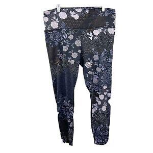 The Member Mark Lounge Legging Floral Leggings Soft Stretch Patchwork Boho XXL