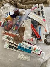 Sewing Notions Supplies Lot Zippers Thread Buttons Pin Cushion