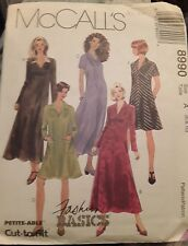 McCALL'S SEWING PATTERN 8990 FASHION BASICS DRESS 2 LENGTHS VINTAGE SIZE 6-8-10