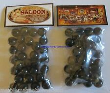 2 BAGS OF DUSTY SADDLE SALOON / RIDE ON IN ADVERTISING PROMO MARBLES