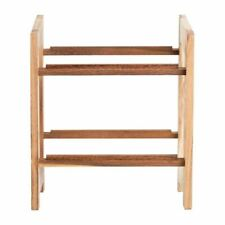 More details for t&g two tier riser for crate gl066 acacia wood 400(h) x 335(w) x 225(d)mm