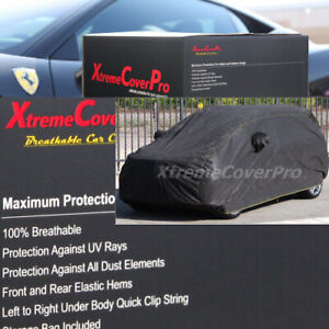 BREATHABLE CAR COVER W/MIRROR POCKET-BLACK FOR 2020 NISSAN ROGUE SPORT