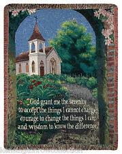 "THROWS - SERENITY PRAYER TAPESTRY THROW - 50"" X 60"" THROW BLANKET - CHURCH"