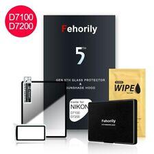 Glas Display schutzfolie & Sonnenschirm Kapuze Protector For Nikon D7100 D7200