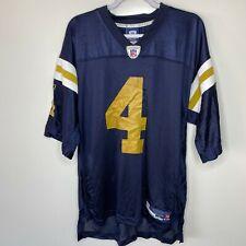Reebok Football Jersey Men's Size L Blue Green Bay Packers #4 Brett Favre