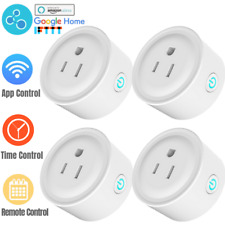 4Pack Smart WiFi Plug Outlet Switch Alexa Echo Google Home Remote Control Socket