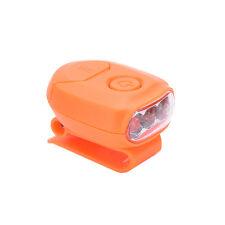 Mini Super Bright LED Clip-on Cap Hat Light Headlamp for Camping Hiking E5y Orange
