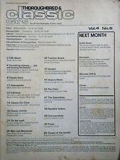 Frazer Nash, SUV carburatori, Porsche 356, Cortina 2000 GHIA, FIESTA, SAAB Alf