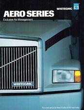 WHITEGMC/VOLVO AERO series EFFICIENT AIR MANAGEMENT  TRUCK  SALES BROCHURE 1987